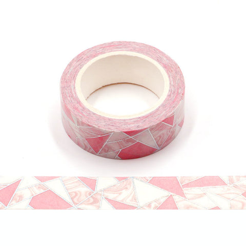 Washi Tape, Pink Geometric Holo Foil