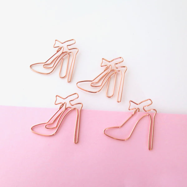 Rose Gold Planner Clips High Heels