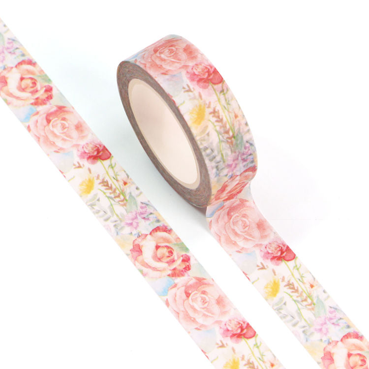 Floral Washi Tape, Large Rose Garden