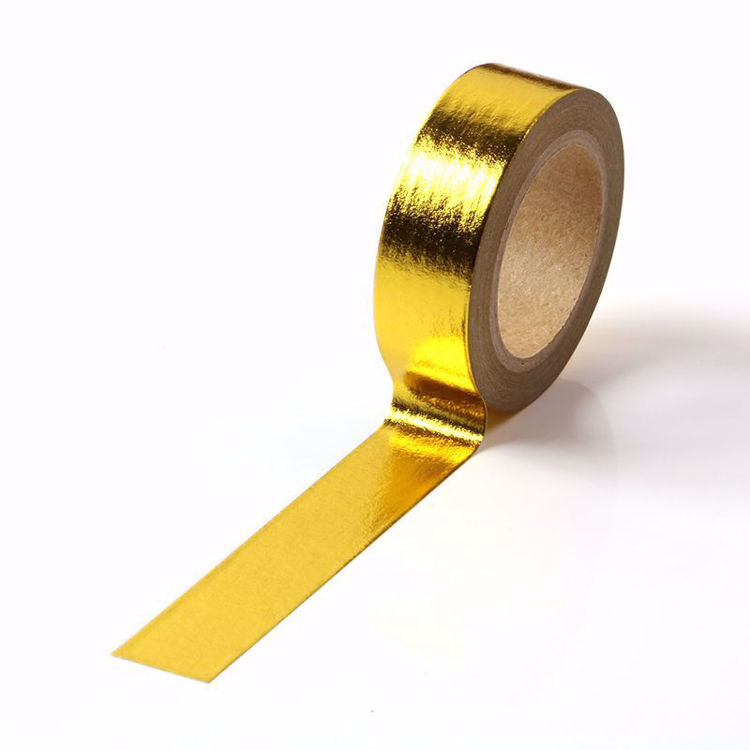 Washi Tape, Yellow Gold Foil