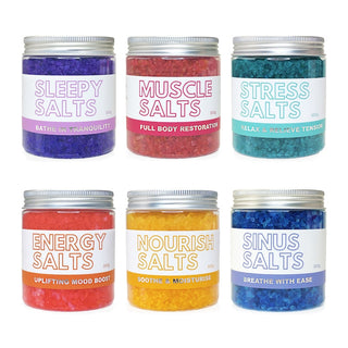Get Salty Bath Salts Epsom Salt Gift Set Box Bundle