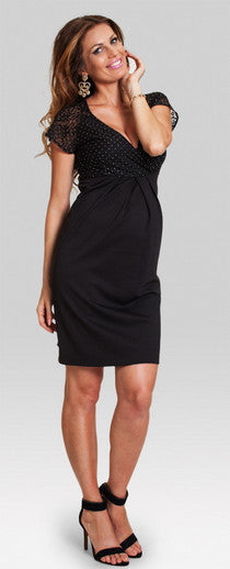 Ambrosia black maternity dress