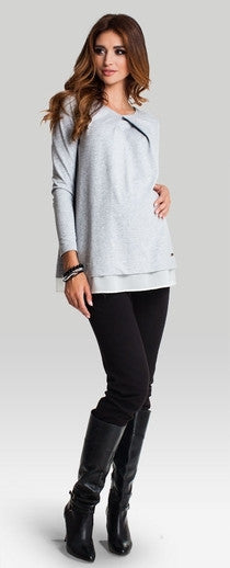 Grey maternity top