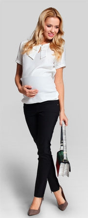 Cream maternity shirt