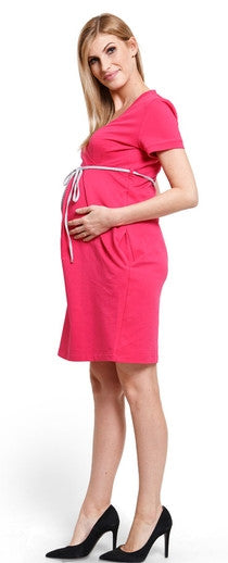 Comfy Berry maternity dress 2