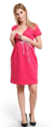 Comfy Berry nursing dress