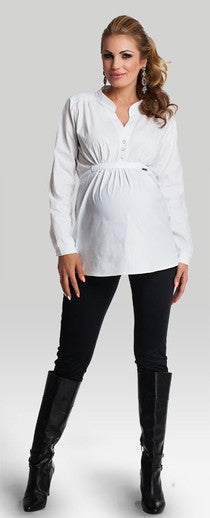White maternity shirt