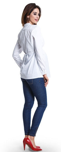 Delicia White Maternity Shirt