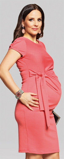 maternity work dress - Coral