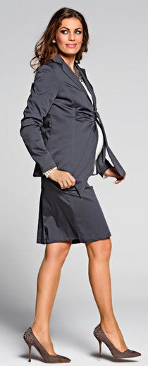 Glam Grey maternity work clothes
