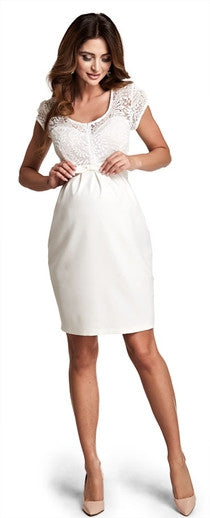 Magic Cream Maternity Dress