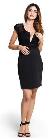 Magic Cream Maternity Dress nursing