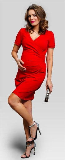 maternity dresses online - Magnolia Red
