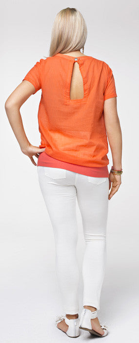 Orange maternity clothes