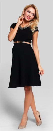 maternity cocktail dresses - Royal Black