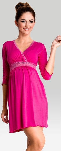 Love me fuchsia maternity nightwear