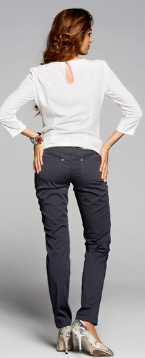 Slim Grey maternity work clothes