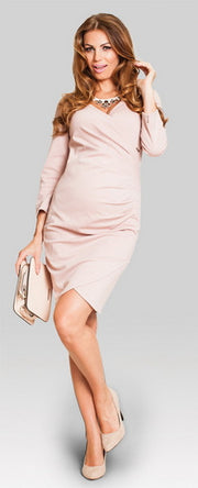 Baby Shower Dress - tulip nude