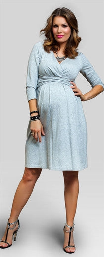 Baby Shower Dress - twisty blue