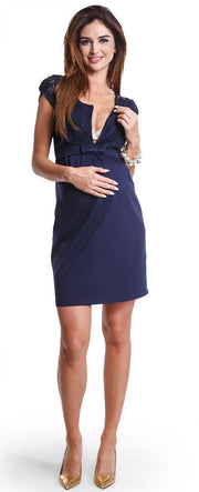 Magic Navy breastfeeding dress
