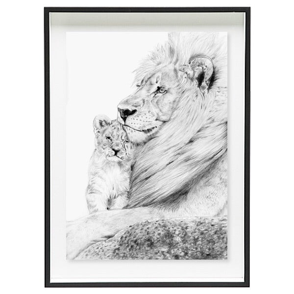 Father and Son - Lions (Limited Edition)