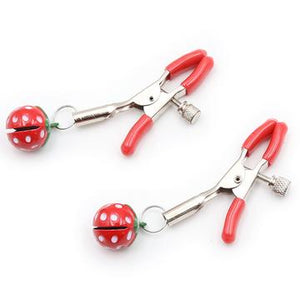 Strawberry Nipple Clamps - CHOKE ME HARDER