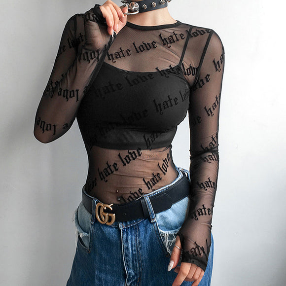 Love Hate Sheer Top
