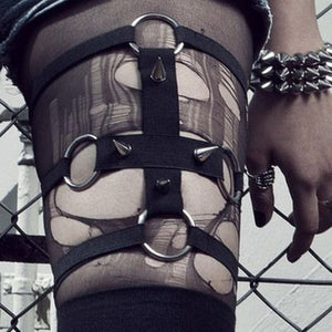 Spiked Cross Garter