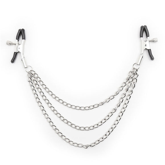 Chained Nipple Clamps - CHOKE ME HARDER