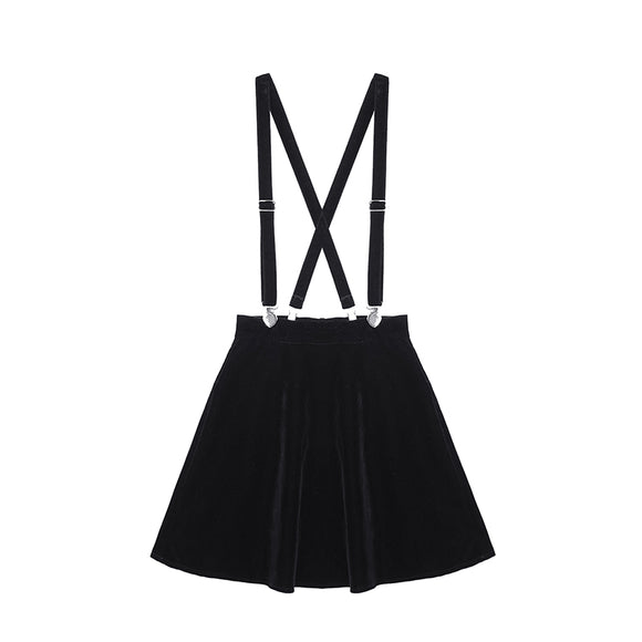Velvet Suspender Skirt - CHOKE ME HARDER