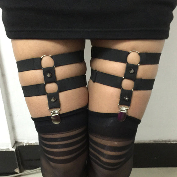 Caged Garters - CHOKE ME HARDER