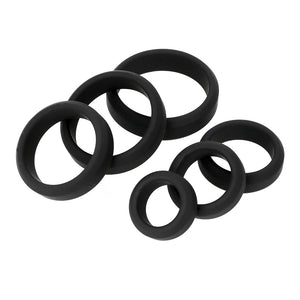 Six Pack Of Silicone Cock Rings