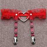 Lace Heart Garter - CHOKE ME HARDER