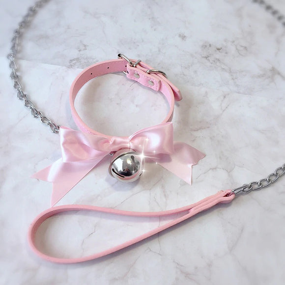 Pretty Girl Bow Collar & Leash