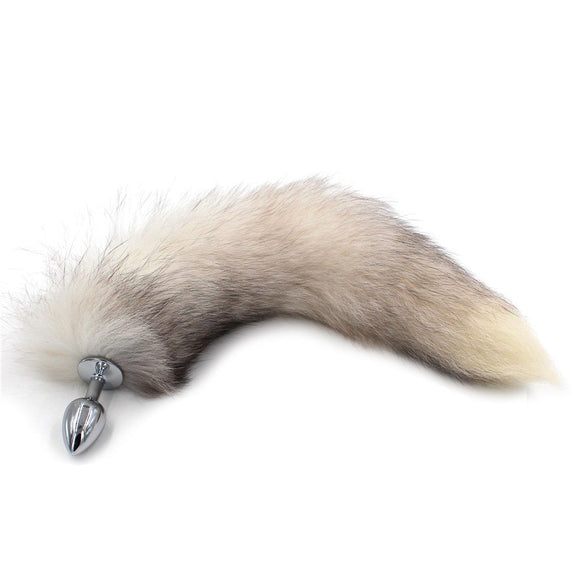 Fox Tail (Grey) - CHOKE ME HARDER