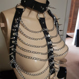 Spiked Trinity Harness - CHOKE ME HARDER