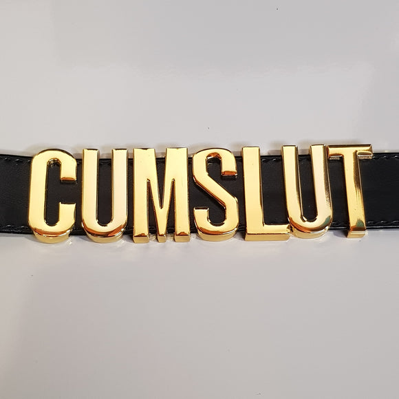 CUM SLUT Collar (Black/Gold)