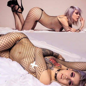 Fishnet Body Stocking - CHOKE ME HARDER