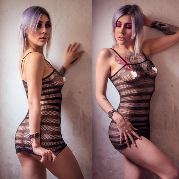 Mesh Mini Dress - CHOKE ME HARDER