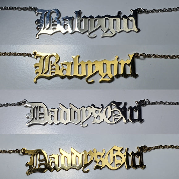 Babygirl / Daddy's Girl Necklace