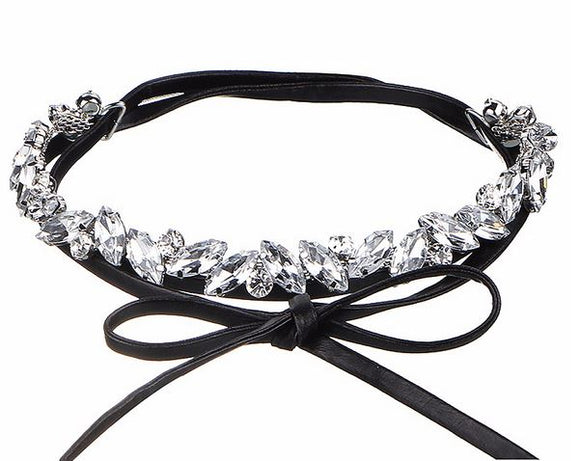 Crystal Bow Choker - CHOKE ME HARDER