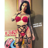 Caged Suspender Belt - CHOKE ME HARDER