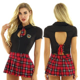 School Girl Set (Black/Red)
