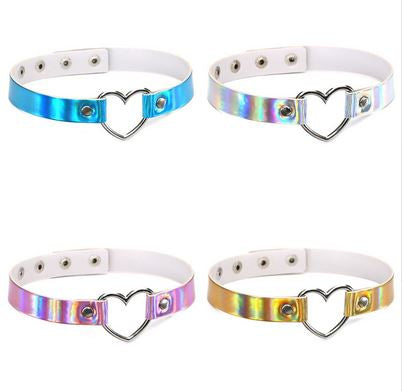 Hologram Heart Choker - CHOKE ME HARDER