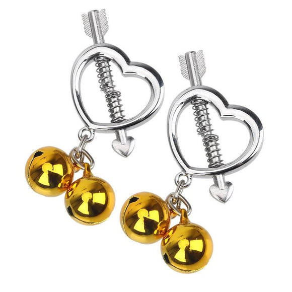 Heart Bell Nipple Clamps