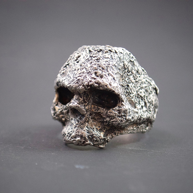 black rock skull ring