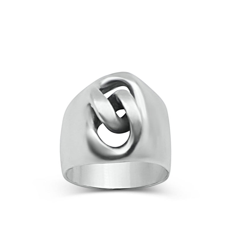 Signet gourmette ring
