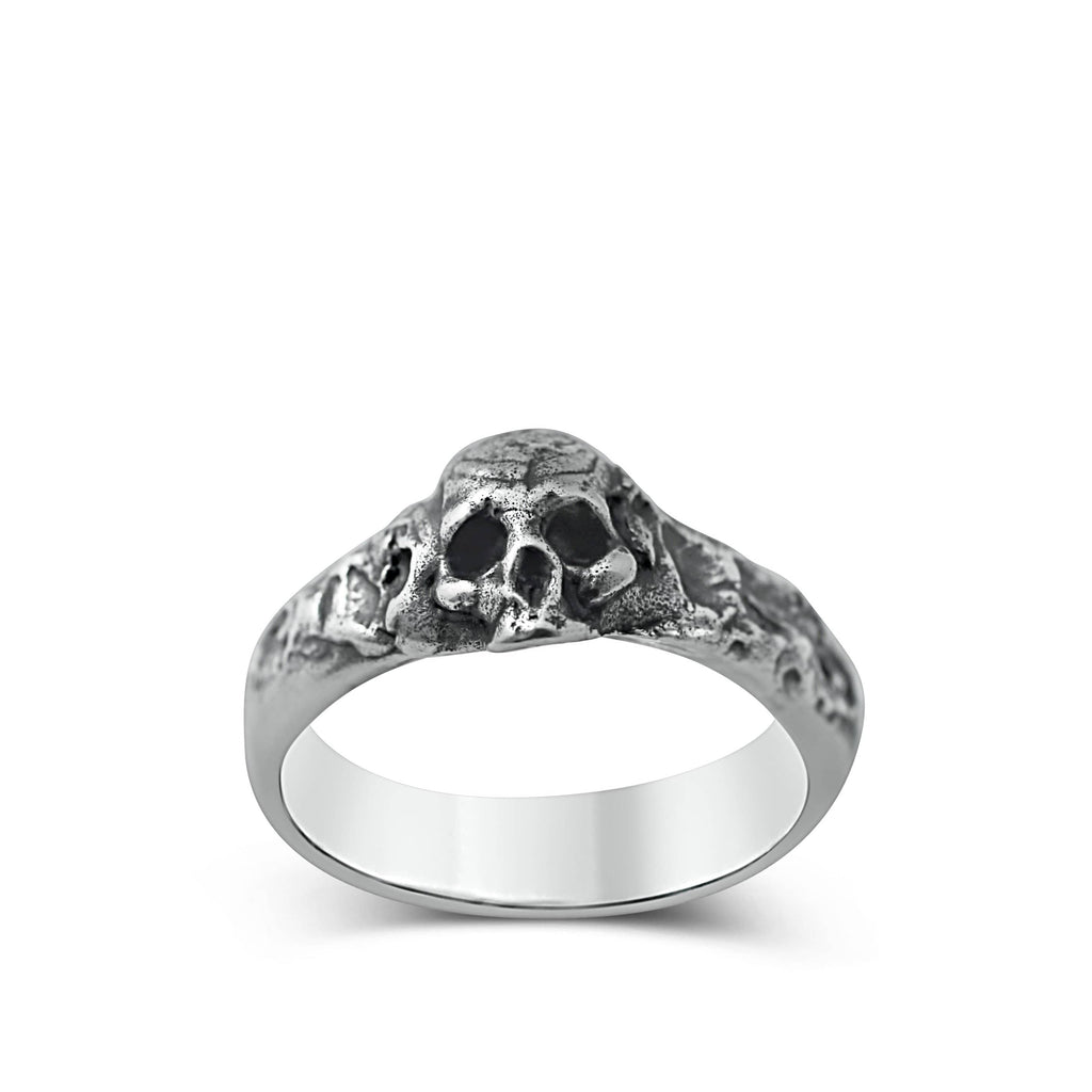 Skull ring Band thin