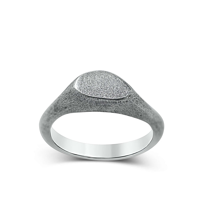 Men's ring Signet cliff thin