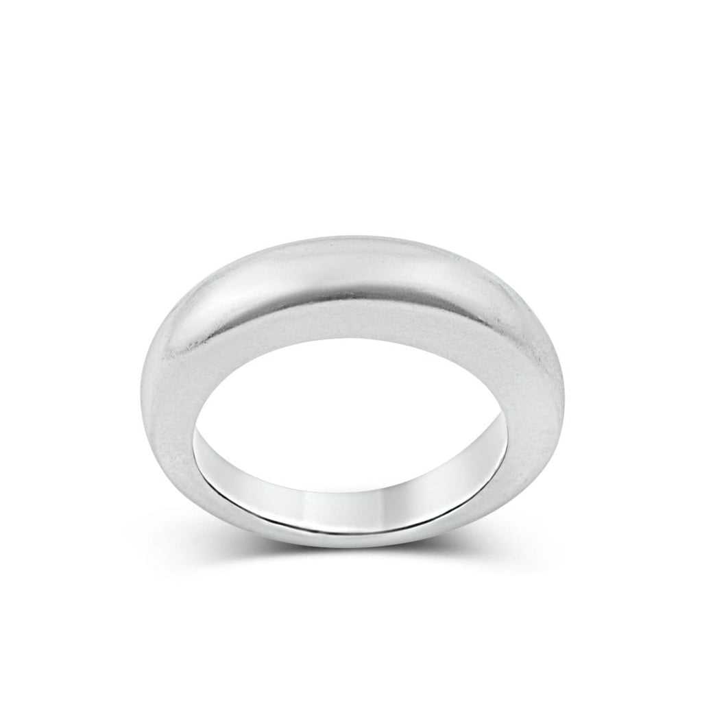 Men's ring Band classic rounded thin